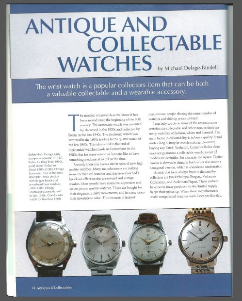 Antiques and Collectable Watches
